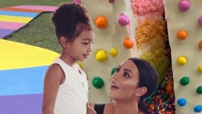 No apto para diabéticos: Kim Kardashian no escatimó en dulces para celebrar los 6 años de North