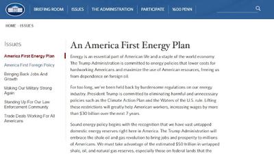 Las referencias al cambio climático son eliminadas del sitio web de la Casa Blanca