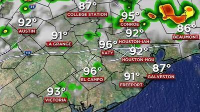 Tarde calurosa y con posibilidad de lluvias ligeras en Houston
