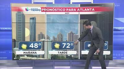 Así estará el clima en Atlanta en las próximas horas del jueves
