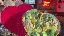 La nueva tendencia para San Valentín: tacos y conchas en forma de corazón