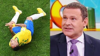 Alan Tacher no puede ocultar su indignación por las caídas 'actuadas' de Neymar durante el Mundial