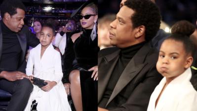 Ya sabemos quién manda: mira a Blue Ivy regañar a Beyoncé y Jay Z en los Grammy