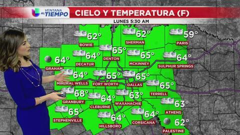 Condiciones secas y temperaturas agradables para este lunes en el Metroplex