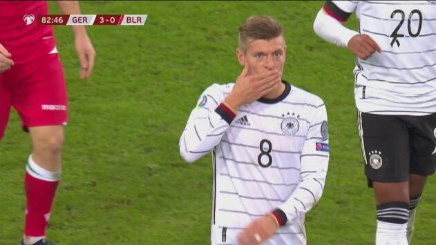 ¡Lleva doblete! Kroos se convierte en figura al marcar el 4-0 de Alemania