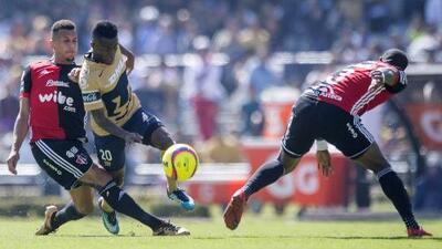 Resultados de los últimos cinco juegos entre Atlas y Pumas por Liga MX