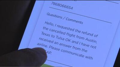 Familia de Austin denuncia ser víctima de un fraude tras no recibir un reembolso por un vuelo cancelado