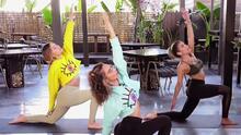 La tía de Maluma llegó con una relajante sesión de yoga (y algunos tips para Francisca embarazada)