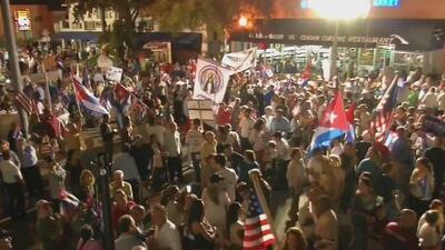 Jóvenes estadounidenses con raíces cubanas apoyaron a exiliados durante manifestación en la Pequeña Habana