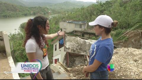 Familia sobrevivió a casa que se fue risco abajo en Utuado
