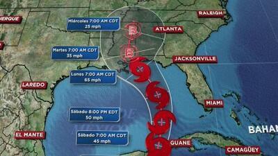 Tormenta subtropical Alberto se desplaza con dirección al Golfo de México