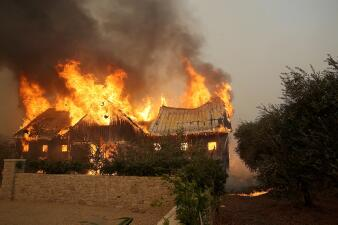 Images of the devastation from California wildfires