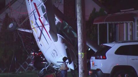 Una avioneta se estrella en un área residencial de Long Island