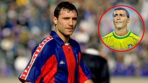 Stoichkov confesó que le exigía quitarse los pendientes a Romario al jugar en el Barcelona