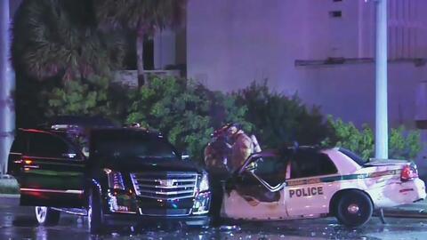 Una oficial y un conductor heridos deja un accidente de tráfico tras una persecución policial en Miami Gardens