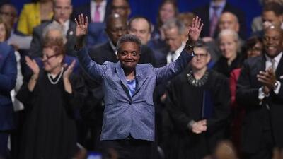 """""""No fallaremos. Somos Chicago"""", dijo la nueva alcaldesa Lori Lightfoot durante su emotiva ceremonia inaugural"""