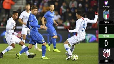 En el último minuto, Politano le dio el triunfo a Italia ante Team USA