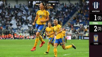 ¡Campeonas otra vez! Tigres Femenil vence a Rayadas y se corona en la Liga MX Femenil