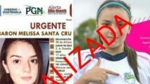 Encuentran con vida a jugadora de Guatemala