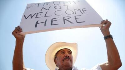 El Paso vivió una jornada de protesta durante la visita de Donald Trump