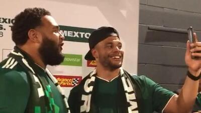 Dak Prescott apoyó al Tri en su casa portando la playera de México