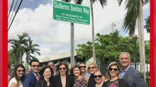 Homenajean a Guillermo Benites con una calle en su nombre en Doral