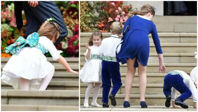 La princesa Charlotte tuvo un día difícil en la boda de Eugenie de York (y no fue la única)
