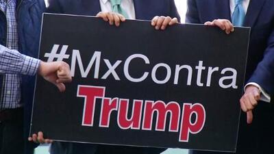 #MxContraTrump, senadores de México en contra de Donald Trump