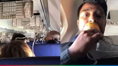 (Video) Joven graba el terrorífico momento en que explota el motor de avión de Southwest