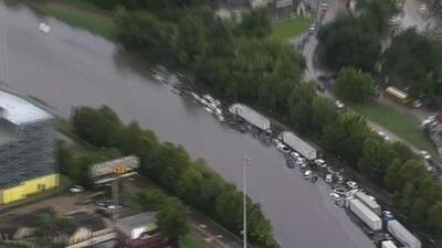 Las imágenes aéreas que muestran la magnitud de las inundaciones en Texas por el paso de Imelda