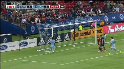 Gianluca Busio de 16 años anota su primer gol en la MLS, Vancouver 1-3 Sporting KC