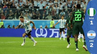 Argentina obtuvo un triunfo de espíritu ante Nigeria y pacta los octavos ante Francia