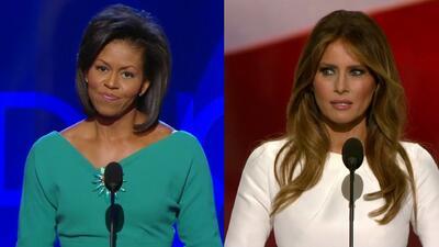 Melania Trump vs Michelle Obama: dos discursos con muchas similitudes