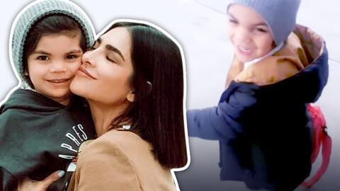 Alejandra Espinoza comparte lo divertida que está con la nueva ocurrencia de su hijo Matteo