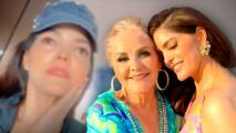 Ana Bárbara se bebe las lágrimas mientras le suplica a su madre que sea feliz