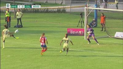 Por poco sorprenden a Chivas, Daniela Espinosa quedó a nada del gol