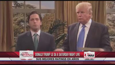 Donald Trump produce altos raitings en TV