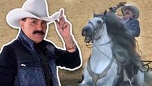 Se cayó del caballo: el 'Chapo de Sinaloa' sufre tremendo golpe en la muñeca y ni así deja de cantar