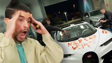 ¡Ouch! Bad Bunny encuentra su Bugatti de $3.2 millones 'vandalizado'