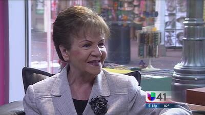 Amparo Ortíz hizo del 41 el canal de la comunidad