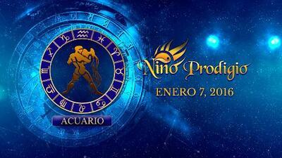 Niño Prodigio - Acuario 7 de enero, 2016