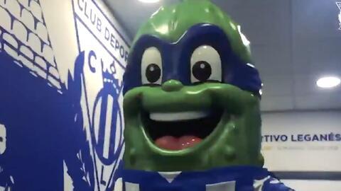 No es una Tortuga Ninja, es Don Pepino... la inusual mascota del Leganés