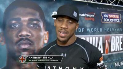 Anthony Joshua defenderá ante Dominic Breazeale en junio en Londres