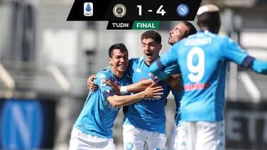 Con un gol de Chucky, Napoli gana y está en zona de Champions