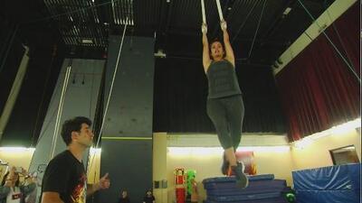 Adriana Monsalve demostró su talento como acróbata en el Cirque du Soleil