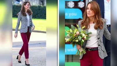 El look de Kate Middleton donde usó una chaqueta inspirada en su suegro y los zapatos 'perfectos' para el trabajo