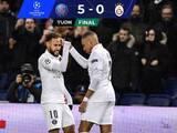PSG acaba invicto y con goleada en la Champions League