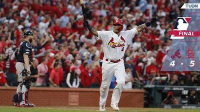 Molina, héroe del triunfo de Cardinales sobre Braves