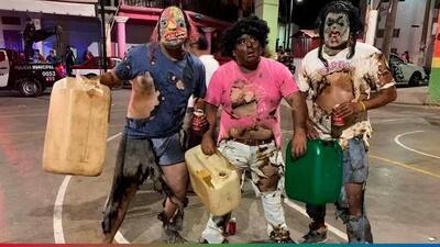 Disfrazados de 'huachicoleros' quemados en festival de México, causan polémica por falta de sensibilidad