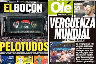 Papelón, vergüenza y escandalosa: así ve la prensa mundial la final de Copa Libertadores